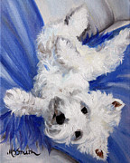 Animals Framed Prints Paintings - Laid Back by Mary Sparrow Smith