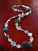 Peridot Jewelry - Laila Long Labradorite Necklace by MIchelle LaCoille