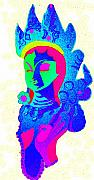 Hindu Goddess Mixed Media Metal Prints - Lakashmi Metal Print by Jennifer Ott