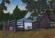 Shed Paintings - Lake Albemarle Shed by Robert Sesco