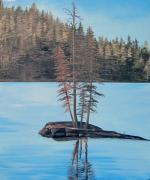 Michelle Painting Originals - Lake Alpine by Michelle Young