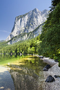 Styria Prints - Lake Altausseer See And Mount Trisselwand Print by Jorg Greuel