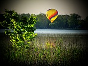 Indiana Landscape Posters - Lake Balloon Poster by Michael L Kimble
