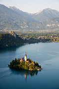 Bled Prints - Lake Bled And Island Print by By Marin.tomic