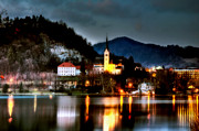 Slovenia Photos - Lake Bled. Church. Slovenia by Juan Carlos Ferro Duque