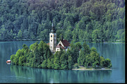 Slovenia Photos - Lake Bled Island by Don Wolf