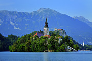 Bled Prints - Lake Bled Slovenia Print by Don Wolf
