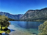 Lake Bohinj Framed Prints - Lake Bohinj Framed Print by Ingrid Dendievel