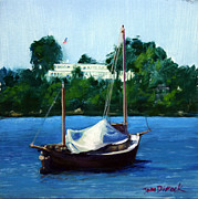 Masted Paintings - Lake Calhoun Beauty by Tom Dimock