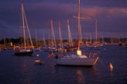 Champlain Photos - Lake Champlain Sailboats by John Burk