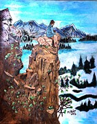 Lake Pyrography Originals - Lake Clark National Park Alaska by Mike Holder