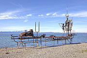 Steel Construction Prints - Lake Constance Art Print by Joana Kruse