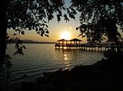 Lake Dardanelle Print by Tammy Chesney