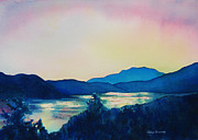 Print On Demand Paintings - Lake Dillon Sunset by Abbie Groves