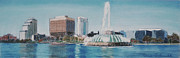 Skylines Pastels Originals - Lake Eola of Orlando by Dana Schmidt