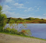 Landscape Sculpture Prints - Lake eorge Print by Ria Krishnan