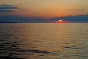 Pretty Clouds Prints - Lake Erie Sunset Print by Robert Harmon