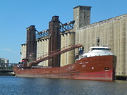 Lake Freighter Art - Lake Freighter Herbert C Jackson by Joseph Rennie