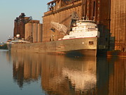 Lake Freighter Art - Lake Freighter Saginaw by Joseph Rennie