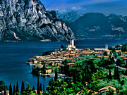 Italian Landscapes Paintings - Lake Garda by Dean Wittle