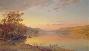 New York State Painting Metal Prints - Lake George - NY Metal Print by Jasper Francis Cropsey