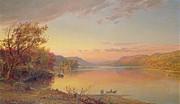 Lake George - Ny Print by Jasper Francis Cropsey