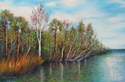 Print Pastels Originals - Lake Griffin by Gabriela Valencia