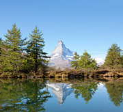 Matterhorn Prints - Lake Grindjisee Print by Monica and Michael Sweet