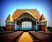Harriet Prints - Lake Harriet Bandshell Print by Perry Webster