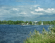 Bi-plane Prints - Lake Hood Anchorage Alaska Print by Kim Hojnacki