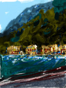 Lake Como Art - Lake Houses by Russell Pierce