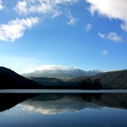 Cloud Prints - Lake in Auvergne Print by Bernard Jaubert