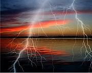 Photography Mixed Media - Lake lighting by Evelyn Patrick
