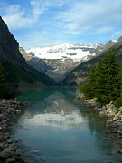 Banff National Park Photos - Lake Louise by Jim Chamberlain