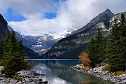 Alberta Rocky Mountains Posters - Lake Louise Poster by Larry Ricker