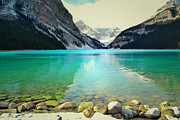 Autumn Photographs Acrylic Prints - Lake Louise Paradise Acrylic Print by Andrea Hazel Ihlefeld