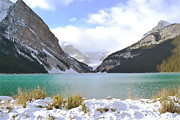 Fall Landscape Print Framed Prints - Lake Louise Perfection Framed Print by Andrea Hazel Ihlefeld