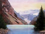 Canada Paintings - Lake Louise by Shirley Braithwaite Hunt