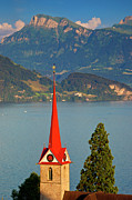 Lucerne Photo Posters - Lake Lucerne Poster by Brian Jannsen