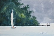 Lucerne Originals - Lake Lucerne Sailing by Jim Oberst