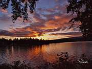Wasilla Posters - Lake Lucille Sunset Poster by Tim Christoffersen