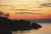 Scenes And Views Prints - Lake Malawi At Sunset Print by Carsten Peter