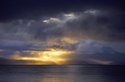 Drama Photographs Prints - Lake Manasarovar Sunset - Tibet Print by Craig Lovell