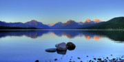 Lake Mcdonald Framed Prints - Lake McDonald Framed Print by Dave Hampton Photography