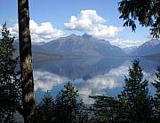 Glacier National Park Posters - Lake McDonald Glacier National Park Poster by Marty Koch