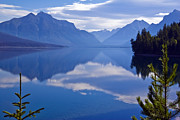 Lake Reflection Framed Prints - Lake McDonald II Framed Print by Scott Hansen