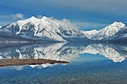 Lake Metal Prints - Lake Mcdonald Metal Print by Mark Shaiken - Photography