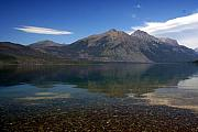 Lake Mcdonald Reflection Glacier National Park 2 Print by Marty Koch