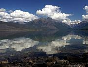 Marty Koch Prints - Lake Mcdonald Reflection Glacier National Park Print by Marty Koch