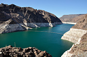 Dry Lake Prints - Lake Mead by Hoover Dam Print by Gary Whitton
